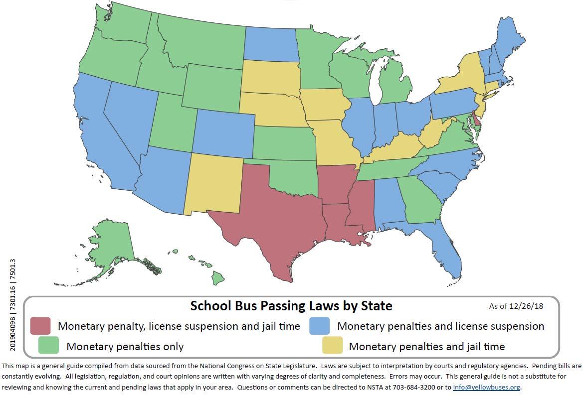 Update on School Bus Passing Laws